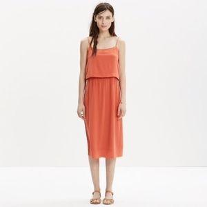 Madewell Silk Overlay Cami Dress